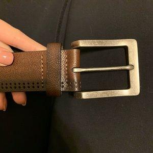 Murano brown leather belt